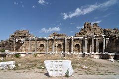 Ancient ruins in Side Stock Photos