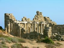 Ancient ruins, Side, Turkey Stock Images