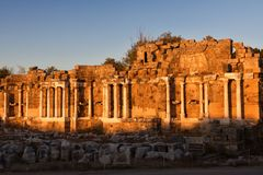 Ancient ruins in Side, Turkey Royalty Free Stock Photo