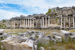 Ancient ruins in Side, Turkey Stock Images