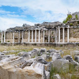 ancient ruins in Side, Turkey Stock Photo