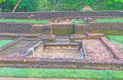 The ancient ruins in Sigiriya Stock Photo