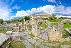 Ancient ruins of Solin view Stock Images