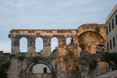Ancient ruins in Split, Croatia. Royalty Free Stock Photos