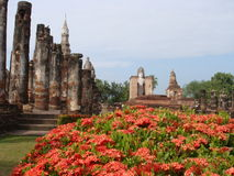 Ancient Ruins of Sukhothai Stock Images