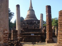 Ancient Ruins of Sukhothai Stock Photography
