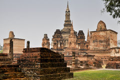 Ancient ruins in Sukhothai, Thailand Royalty Free Stock Photography