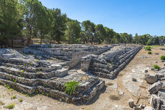 Ancient ruins in Syracuse, Sicily Royalty Free Stock Images