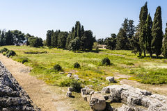 Ancient ruins in Syracuse, Sicily, Italy Royalty Free Stock Photos