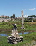 Ancient ruins of Temple of Artemis Royalty Free Stock Photography