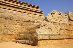 Ancient ruins of Temple. Hampi, India. Stock Images