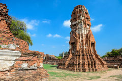Ancient ruins,Thailand. Ancient ruins of temple in Ayutaya,Thailand Stock Images