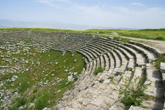 Ancient ruins of the theater, The Ruins of Laodicea a city of the Roman Empire. Stock Images
