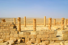 Ancient ruins of town of Avdat in Israel. Royalty Free Stock Photography