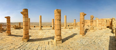 Ancient ruins of town of Avdat in Israel. Stock Image