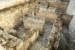 Ancient ruins of the Treasury in Chersonesus Taurica. Royalty Free Stock Image
