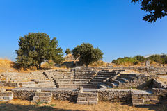 Ancient ruins in Troy Turkey. Travel background Stock Photos