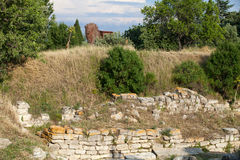 Ancient ruins in Troy. Royalty Free Stock Image
