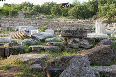 Ancient ruins in Troy. Stock Photo
