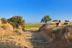 Ancient ruins in Troy Turkey Stock Photography