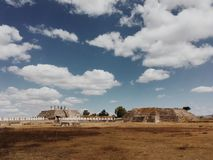The ancient ruins of Tula, capital city of the Toltecs. Mexico. Ancient ruins. Tula de Allende, Hidalgo, Mexico Stock Image