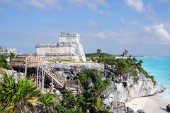 Ancient ruins of tulum in Mexico Stock Photography