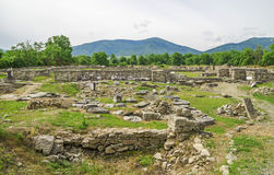 Ancient Ruins of Ulpia Traiana Augusta Dacica Sarmizegetusa in Romania Stock Images