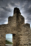 Ancient ruins under clouds Stock Photo