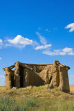 Ancient ruins vertical. Ancient ruins farm country house in Europe Royalty Free Stock Image