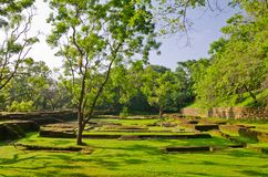Ancient ruins in the vicinity mount Sigiriya Stock Image