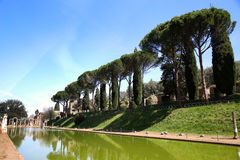 Ancient ruins of Villa Adriana ( The Hadrian's Villa ), Canopo, Stock Photography