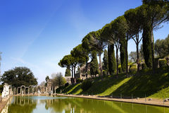 Ancient ruins of Villa Adriana, Tivoli, Italy. Ancient ruins of Villa Adriana ( The Hadrian's Villa ), Canopo, Tivoli, Italy Royalty Free Stock Photography