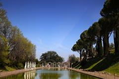 Ancient ruins of Villa Adriana, Tivoli, Italy. Ancient ruins of Villa Adriana ( The Hadrian's Villa ), Canopo, Tivoli, Italy Stock Photography