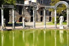 Ancient ruins of Villa Adriana, Tivoli, Italy. Ancient ruins of Villa Adriana ( The Hadrian's Villa ), Canopo, Tivoli, Italy Royalty Free Stock Photos