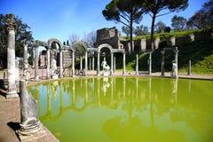Ancient ruins of Villa Adriana, Tivoli, Italy. Ancient ruins of Villa Adriana ( The Hadrian's Villa ), Canopo, Tivoli, Italy Stock Photos