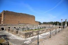 Ancient ruins of Villa Adriana, Tivoli, Italy Royalty Free Stock Photo
