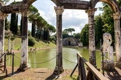 Ancient ruins of Villa Adriana, Tivoli, Italy Stock Images