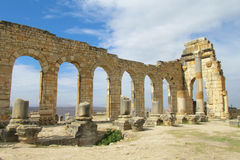 Ancient ruins, Volubilis, Morocco Royalty Free Stock Images