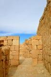 Ancient ruins. Ancient walls. Avdat National Park World Heritage Sate. Israel Royalty Free Stock Image