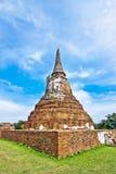 Ancient ruins of Wat Phra tart ayutthaya,thailand.  Stock Photos