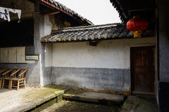 Ancient run-down farm house in Chinese traditional stlyle Royalty Free Stock Image