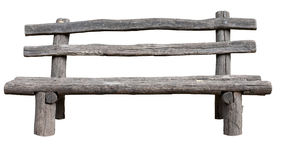 Ancient rural bench from logs. Royalty Free Stock Photos