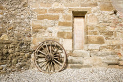 Ancient rural facade detail Stock Images
