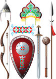 Ancient Russia set. Illustration vector and raster Stock Images