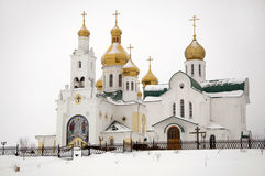 Ancient russian church Royalty Free Stock Photo