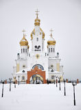 Ancient russian church Stock Photos