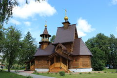 Ancient Russian church. The ancient Russian church, built of wood Stock Photography