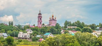 Ancient Russian city of Borovsk Royalty Free Stock Photos
