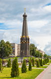 Ancient Russian city Maloyaroslavets. Monument dedicated to the memory of the Patriotic War of 1812 in the ancient Russian city of Maloyaroslavets Stock Photo