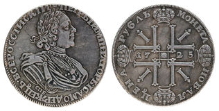 Ancient Russian Coin Royalty Free Stock Photography